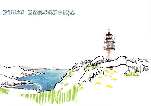Faro en punta Roncadoira