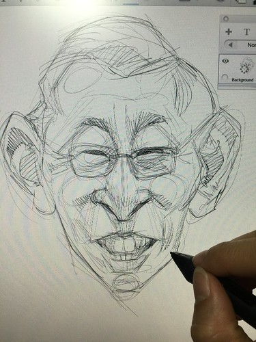 Chiam See Tong & Ben Pwee digital caricatures for Singapore People's Party