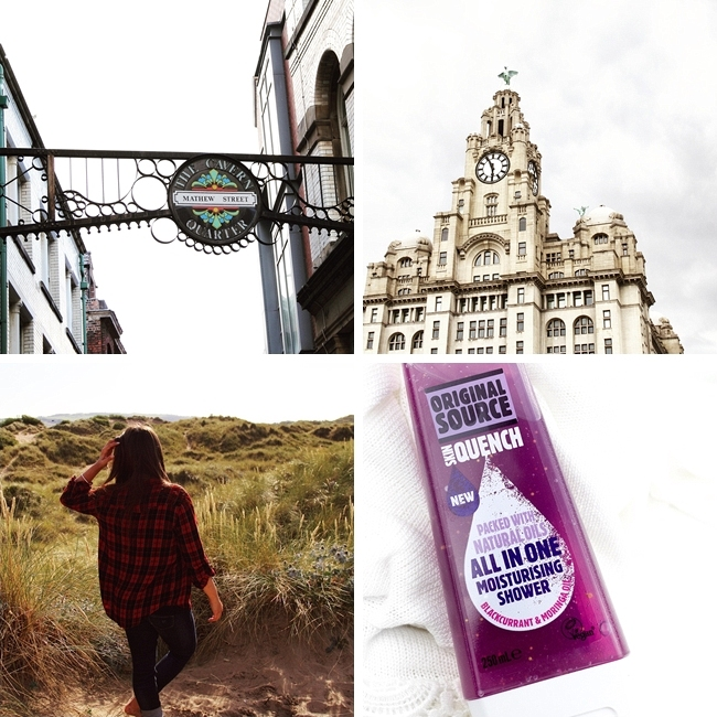 Instagram, Monatsrückblick August, Liverpool, Mathew Street, Talacre Beach, Original Source Blackcurrent & Moringa Oil, UK Shopping Haul