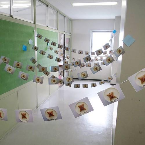 写真部の展示。文化祭らしい、良い作品。