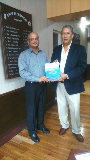 Water Book being presented to Pankaj Kumar, Honorable Chief Secretary to Government of Nagaland.JPG