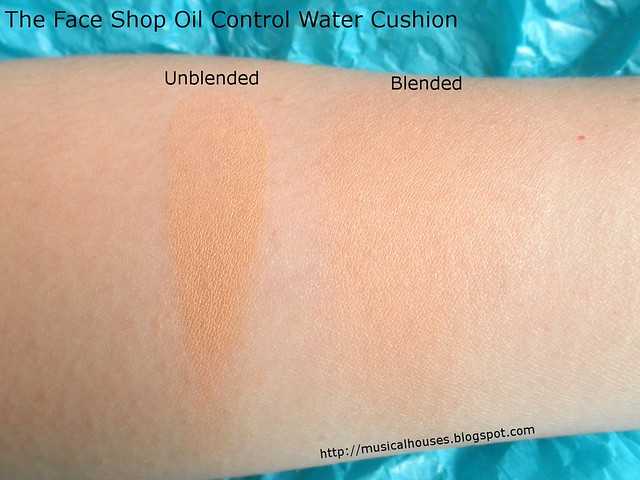 The Face Shop Oil Control Water Cushion Swatch