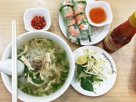 04 Trung Nguyen - Lunch of Pho & Spring Rolls