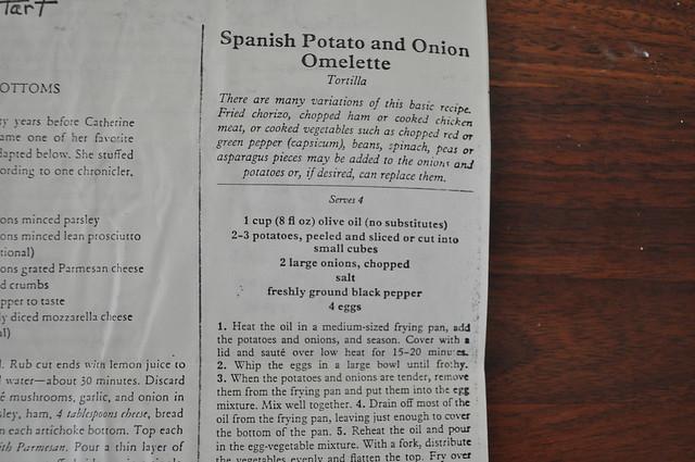 Spanish Potato and Onion Omelette