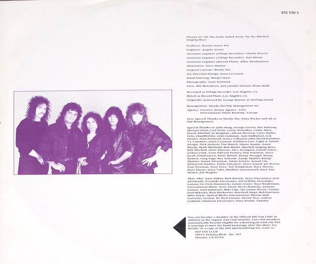 """DIO Dream Evil 12"""" VINYL LP"""