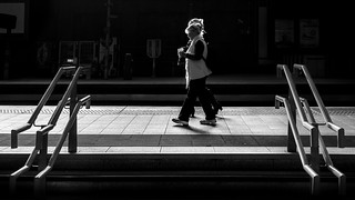 Commuter - Dublin, Ireland - Black and white street photography