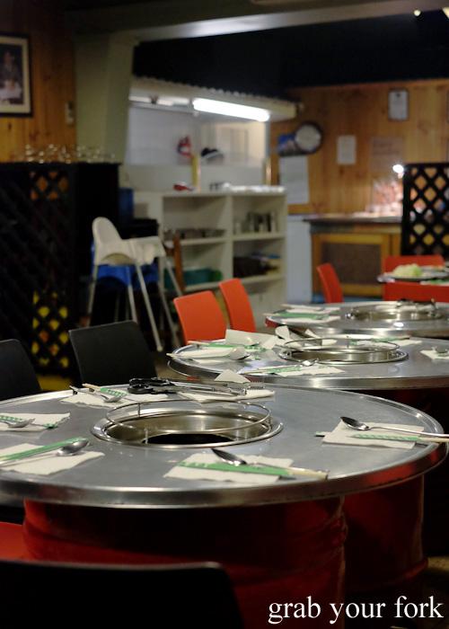 Dining room at Jang Tur Charcoal BBQ Restaurant, Canterbury