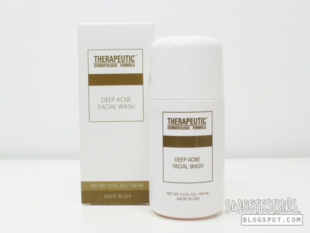 Therapeutic Dermatologic Formula Deep Acne Facial Wash