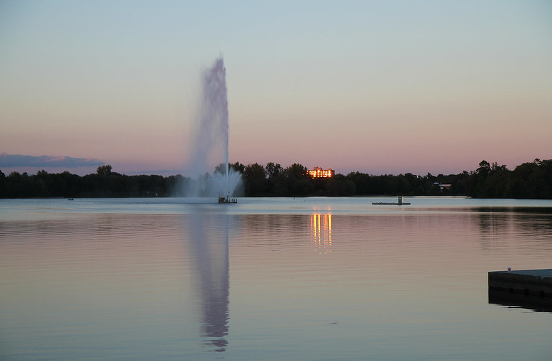 sunset fountain3