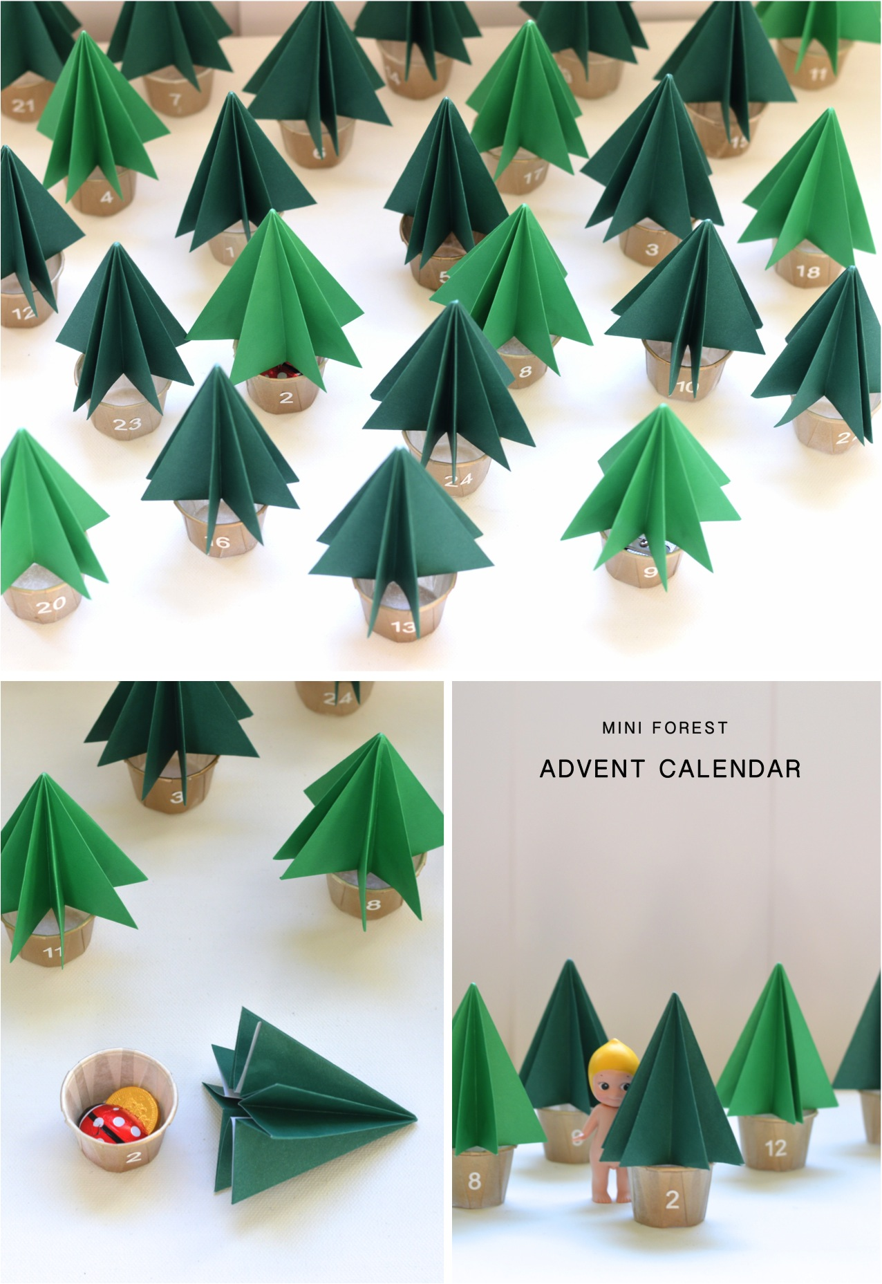 mini forest advent calendar
