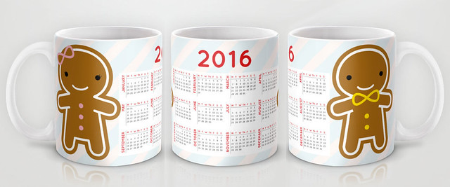 2016 Calendar Mug - Cookie Cute