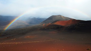 Rainbow at Haleakala crater