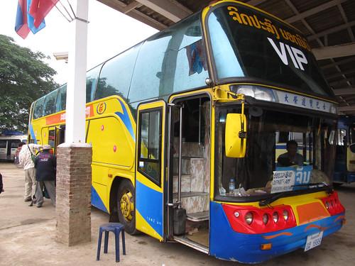 Trajet de Luang Prabang à Vientiane: le bus VIP!