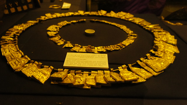 Two gold collars at the Egyptian Museum of Cairo
