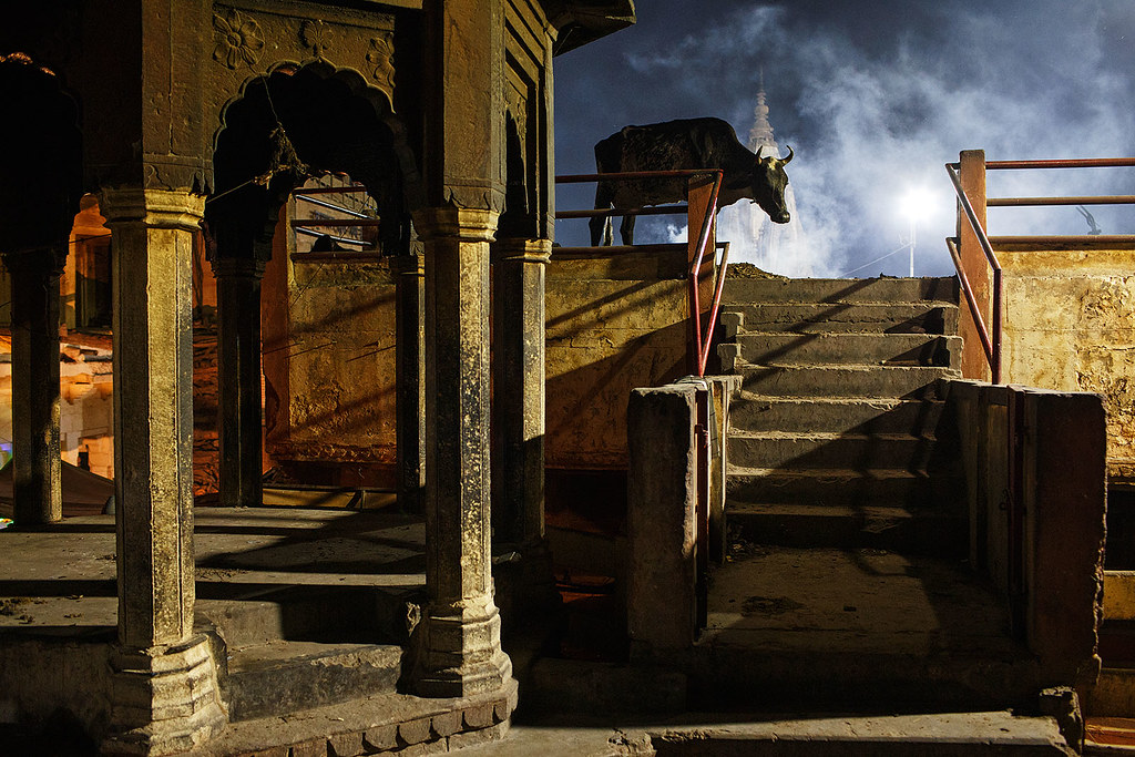 Moody night - Varanasi, India