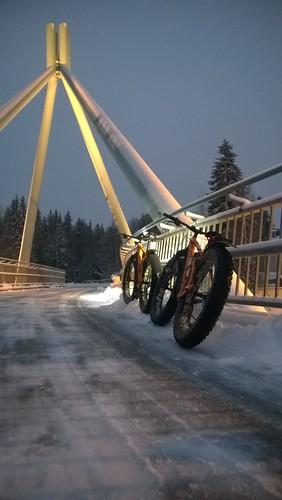 kuusamo silta pyörätie toranki läskipyöräily