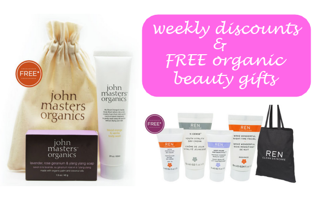 Weekly Discounts and Free Organic Beauty Gifts #46