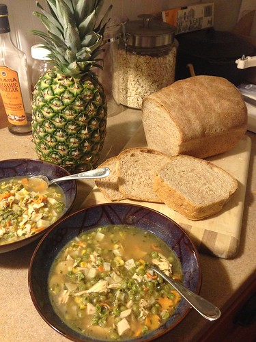 20 minutes later, turkey soup accomplished!