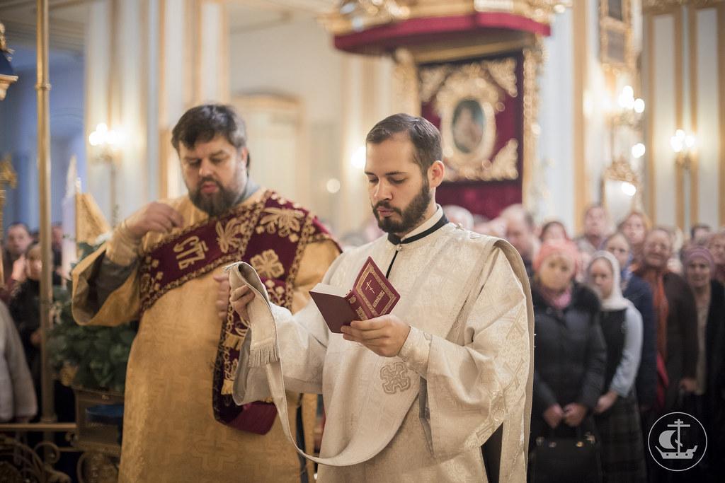 19 декабря 2015, Божественная литургия в Николо-Богоявленском морском соборе / 19 December 2015, Divine Liturgy in the St. Nicholas Naval Cathedral