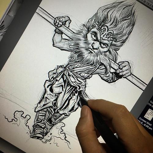 Inking.....