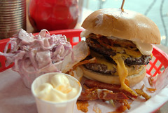 I'MCRACK-ED,BABY Burger at Almost Famous, Manche…