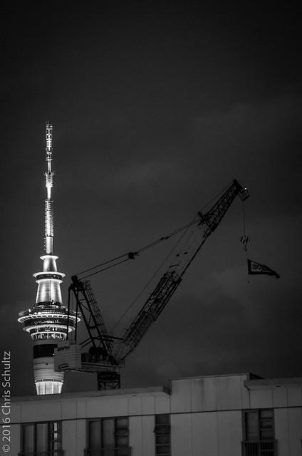 Tower and Crane, Pentax K-5, Sigma