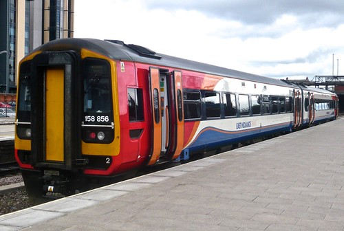 Class158 864 'East Midland Trains' Diesel Multiple Unit on 'Dennis Basford's railsroadsrunways.blogspot.co.uk'