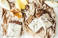 granola bars with pumpkin, raisins and pears, heal…