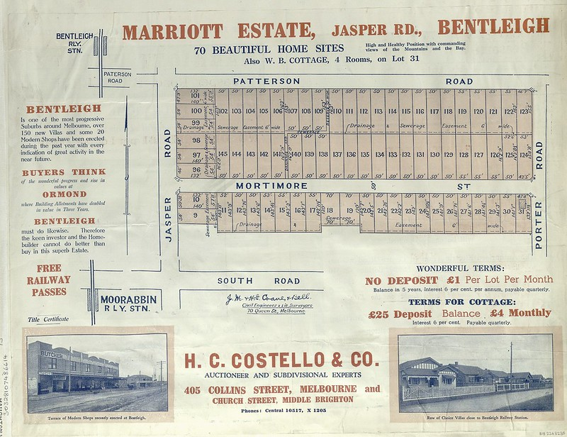 Ad for Marriot Estate (Bentleigh)