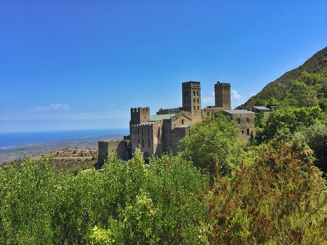 Monasterio de Sant Pere de Rodes (Costa Brava, Cataluña)