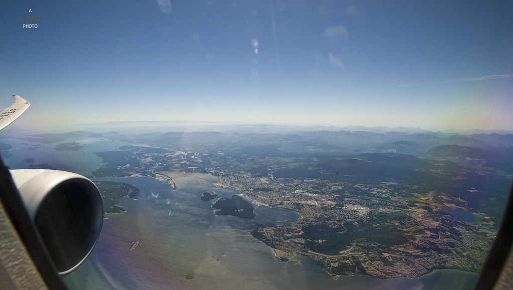Flying past Nanaimo