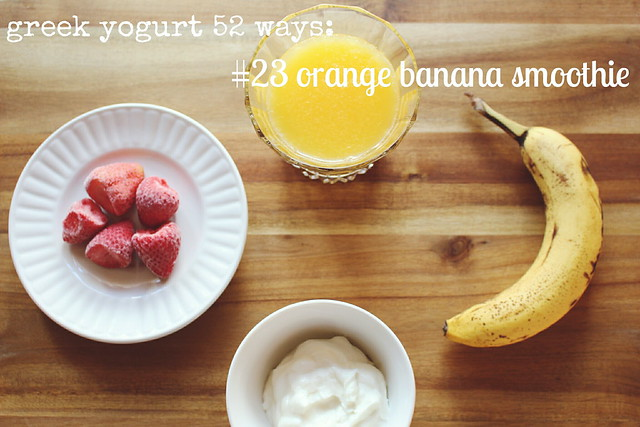 greek yogurt 52 ways: # 23 ina garten's orange banana smoothie