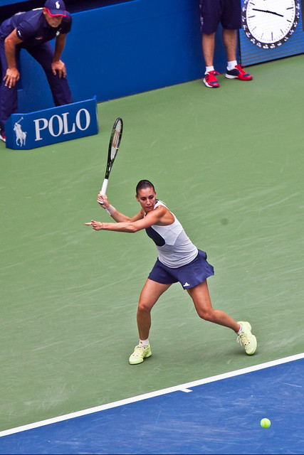 US Open Womens Finals Pennetta forehand