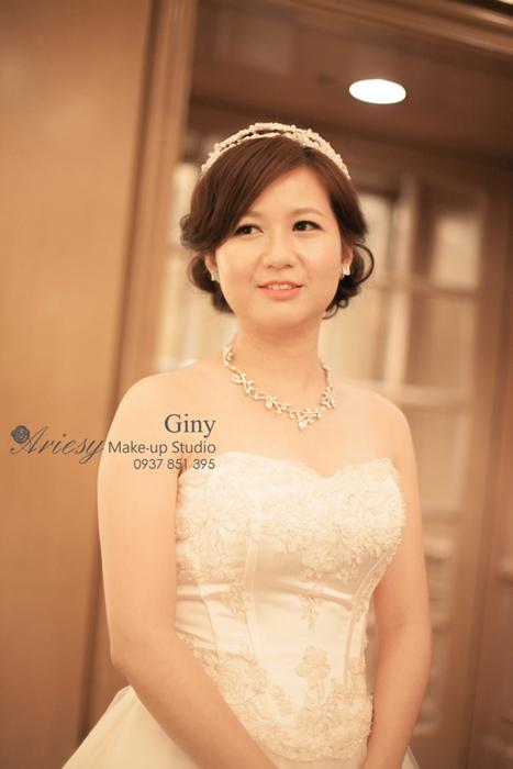 Giny,愛瑞思造型團隊,台北新娘秘書,新娘秘書,清透妝感,蓬鬆盤髮,線條盤髮,韓風飾品,西華飯店