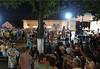 Volksfest vor dem Kulturheim mit mehreren Stars der rumänischen Volksmusik-Szene