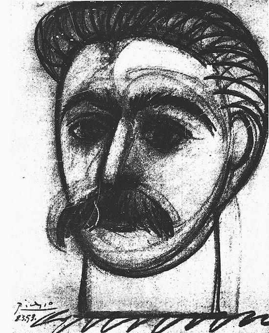 毕加索绘制的斯大林像