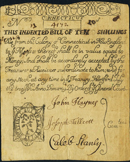Connecticut July 12, 1709 colonial note