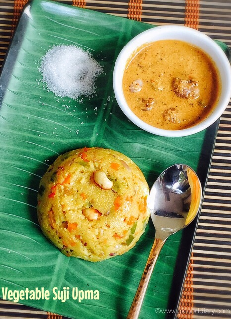 Vegetable Suji Upma for baby2