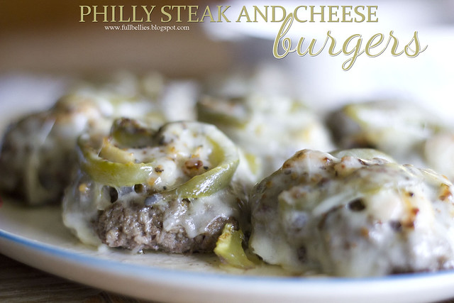 Philly Steak and Cheese Burgers