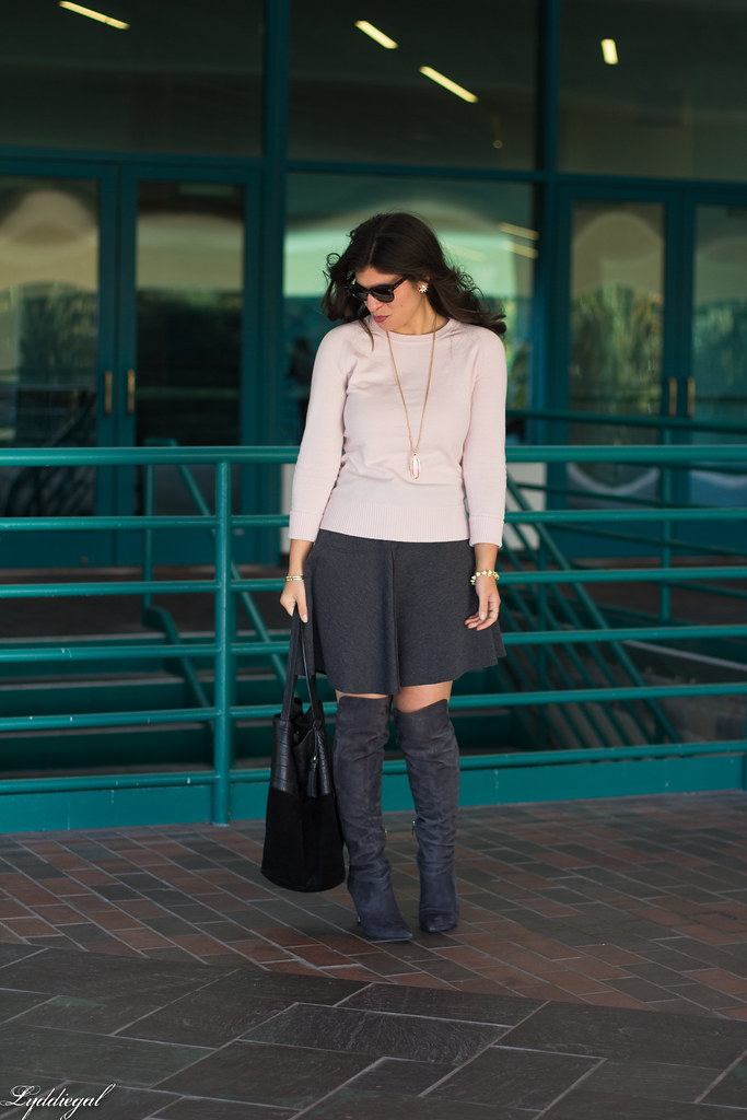 pink sweater, grey skirt, over the knee boots-2.jpg