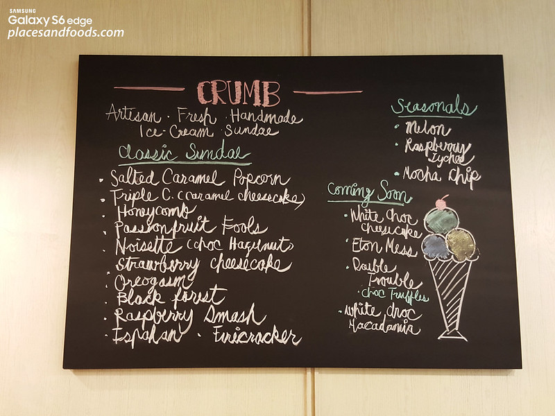 crumbs ice cream central embassy menu
