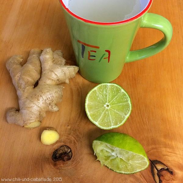 Ingwer-Limetten-Tee