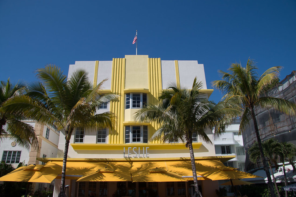 Art Deco style buildings in Miami Beach