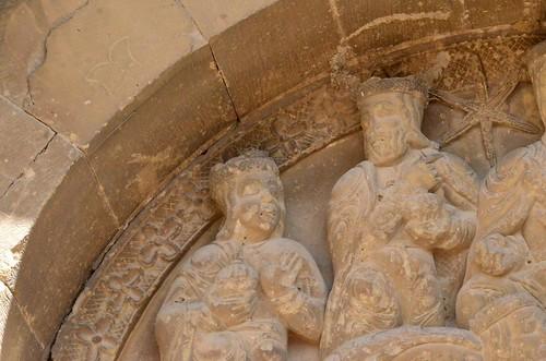 Biota (Aragon), San Miguel - sculpture romane - 03