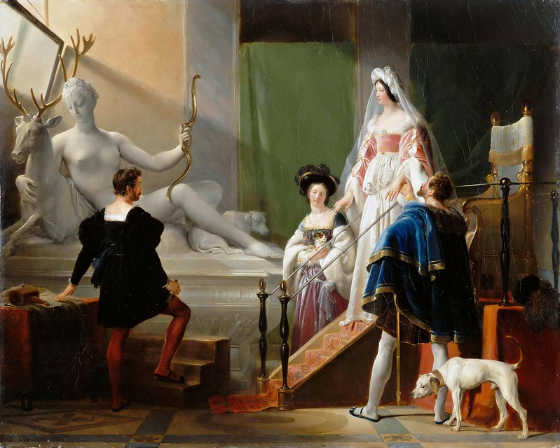 Alexandre-Evariste Fragonard - Henri II and Diane de Poitiers in the Studio of Jean Goujon