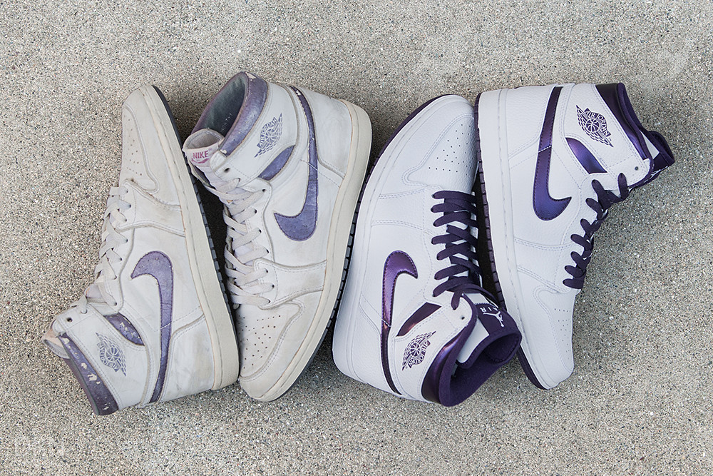 1985 & 2009 Metallic Purple/White I's.