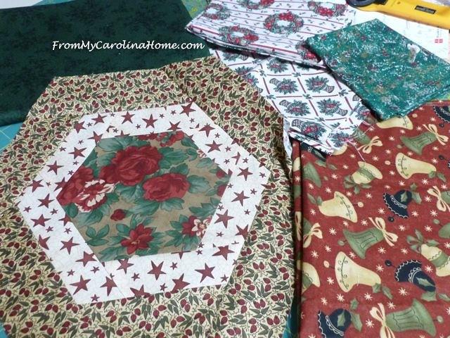 Christmas fabrics project 1
