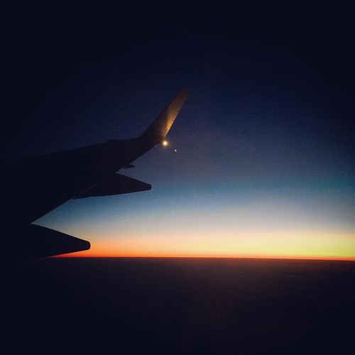 Day 24:  One year ago #decemberreflections  Watching the sunrise somewhere between DCA and YYZ