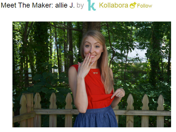 Meet the Maker: allie J. on Kollabora