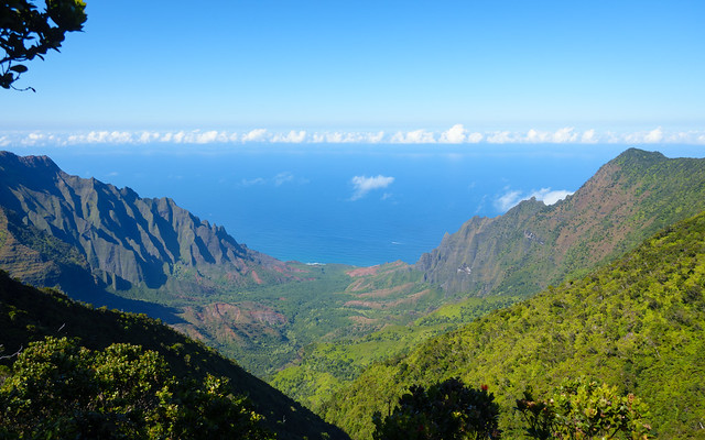 View down Na Pali coast